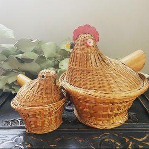 Cottagecore Hen & Chick Baskets